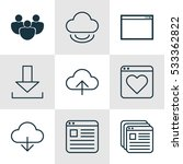 set of 9 web icons. can be used ...