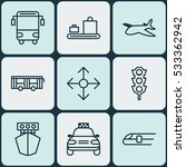 set of 9 vehicle icons. can be... | Shutterstock .eps vector #533362942