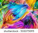 digital paint series. swirls of ...   Shutterstock . vector #533375095