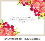 vintage delicate invitation... | Shutterstock . vector #533383888