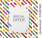 colorful background with... | Shutterstock .eps vector #533387482