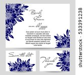 invitation with floral... | Shutterstock . vector #533391238