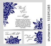 invitation with floral... | Shutterstock . vector #533391385