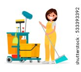 woman worker of cleaning...