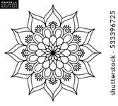 flower mandala. vintage... | Shutterstock .eps vector #533396725