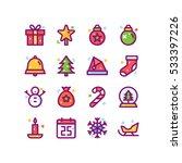 christmas icon illsutrations | Shutterstock .eps vector #533397226