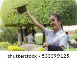 graduate celebrating with cap... | Shutterstock . vector #533399125