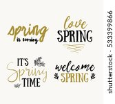it's spring time hand drawn... | Shutterstock .eps vector #533399866