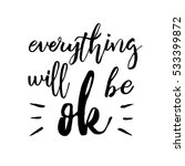 everything will be ok   fun... | Shutterstock .eps vector #533399872