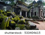 ta prohm temple in siem reap is ... | Shutterstock . vector #533404615