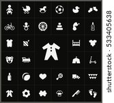 baby  kids icons universal set... | Shutterstock . vector #533405638