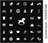 baby  kids icons universal set... | Shutterstock . vector #533405788