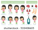 diabetes symptoms and... | Shutterstock .eps vector #533408605