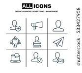 set of 9 communication icons....