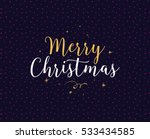 merry christmas text design.... | Shutterstock .eps vector #533434585