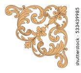 vintage baroque corner ornament ...   Shutterstock .eps vector #533439985