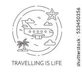 traveling horizontal banner... | Shutterstock .eps vector #533450356