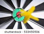 dartboard with dart arrow... | Shutterstock . vector #533450506