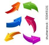 set of 3d arrows | Shutterstock .eps vector #53345131