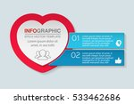 vector infographic template ... | Shutterstock .eps vector #533462686