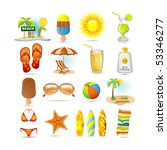 beach icon set | Shutterstock .eps vector #53346277