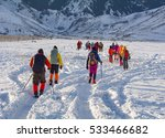 a group of outdoor enthusiasts... | Shutterstock . vector #533466682