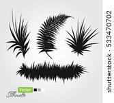 fern branch set black... | Shutterstock .eps vector #533470702