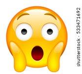 face screaming in fear....   Shutterstock . vector #533471692