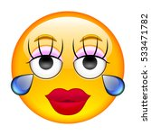 crying girl emoticon. crying... | Shutterstock . vector #533471782