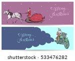 christmas flyers set.santa... | Shutterstock .eps vector #533476282