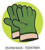 gardening tool pair of green... | Shutterstock .eps vector #53347804