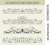 vector set of borders and... | Shutterstock .eps vector #533485576