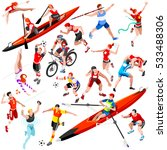 sport character icon set... | Shutterstock .eps vector #533488306