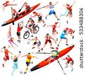 sport character icon set... | Shutterstock .eps vector #533488306
