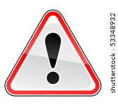 glossy red attention warning...   Shutterstock .eps vector #53348932