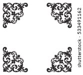 vintage baroque corner ornament ... | Shutterstock .eps vector #533491162