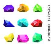 multicolor vector crystals...