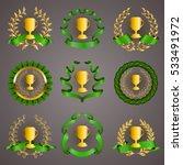 set of luxury golden champion... | Shutterstock .eps vector #533491972