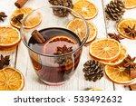 mulled wine  orange slices ...   Shutterstock . vector #533492632