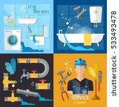 plumbing service set....   Shutterstock .eps vector #533493478