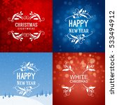 set of merry christmas and... | Shutterstock .eps vector #533494912