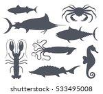 sea life set. isolated sea life ... | Shutterstock .eps vector #533495008