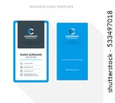 vertical double sided business... | Shutterstock .eps vector #533497018