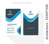 vertical double sided business... | Shutterstock .eps vector #533497108