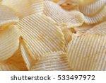 close up of potato chips ridge... | Shutterstock . vector #533497972