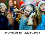 group of cheerful young girls... | Shutterstock . vector #533503996