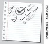 scribble vote sign | Shutterstock .eps vector #53351053