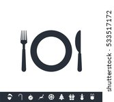 restaurant icon | Shutterstock .eps vector #533517172