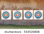 row of four archery target... | Shutterstock . vector #533520808
