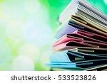 file folder against green... | Shutterstock . vector #533523826